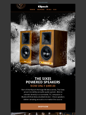 Klipsch - THE SIXES POWERED SPEAKERS | Now Only $499