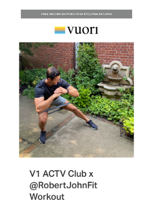 Vuori - V1 ACTV Club: Add these 5 low impact resistance band moves to your workout routine