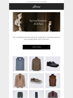 Brioni - Spring/Summer 2021 Sale