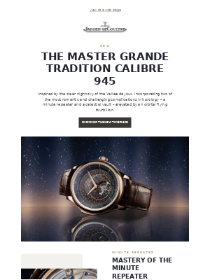 Introducing the new Master Grande Tradition Calibre 945