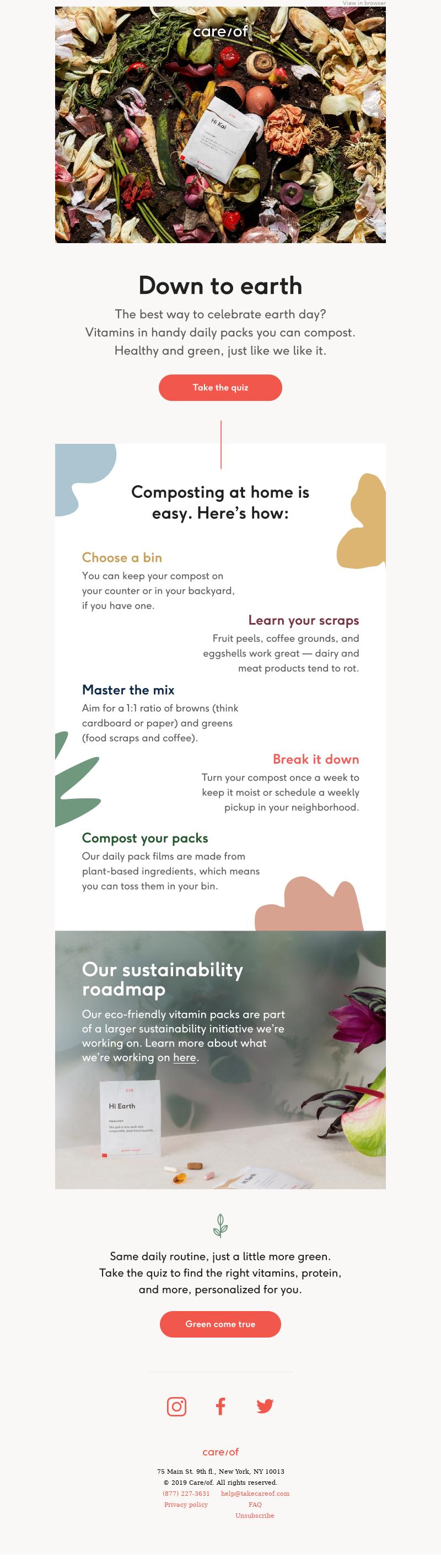 Start an earth-friendly habit
