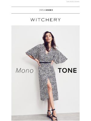 Witchery (AU) - SUMMER STYLE IN MONOCHROME.
