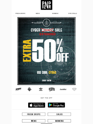 50% OFF Cyber EXTENDED Sale!