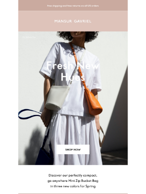 Mansur Gavriel - Just in: bold new colors for Spring