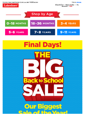 Lakeshore Learning - Just a Few Days Left to Save, Plus At-Home Learning Must-Haves!