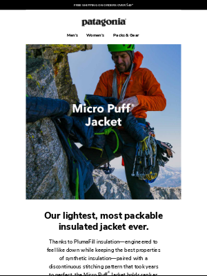 Patagonia - Still the best for ultralight insulation
