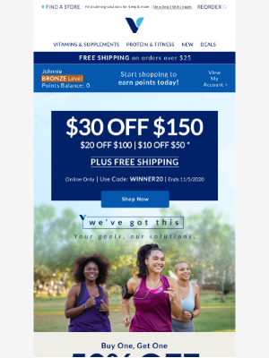 Vitamin Shoppe - Stress less with this $30 coupon