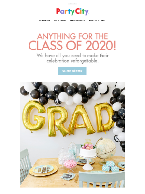 Anything for the Class of 2020!