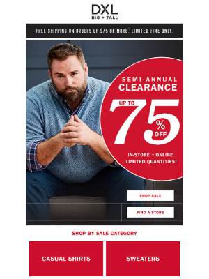 DXL - The Stuff You Need. Up To 75% OFF.
