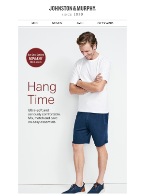 Johnston & Murphy - Hang Time. Mix, Match + Save on Essential Loungewear.