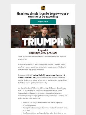 UPS - Don't Miss: Finding Global E-commerce Success—A Small Business Chat