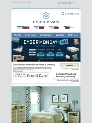 Bedroom Furniture Discounts - Cyber Monday Sale Ends Today! 📢