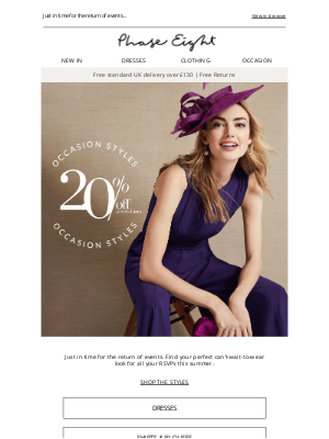 Phase Eight (UK) - Starts now! 20% off selected occasion styles
