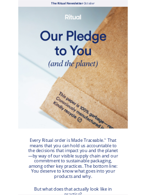 Ritual - Re: Our commitment to you and the planet
