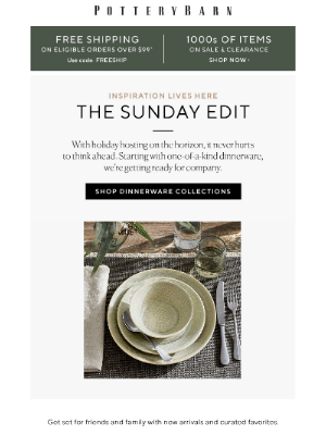West Elm - The Sunday Edit: Get guest-ready.