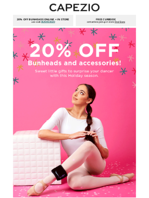 Capezio - 20% OFF HOLIDAY + ACCESSORIES 🎄 Jingle all the way to your cart