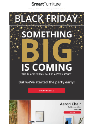 Smart Furniture, Inc. - We Started Our Black Friday Sale EARLY, So That You Can Upgrade Your Space Sooner!