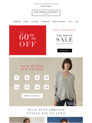 The White Company - Sale styles in your size