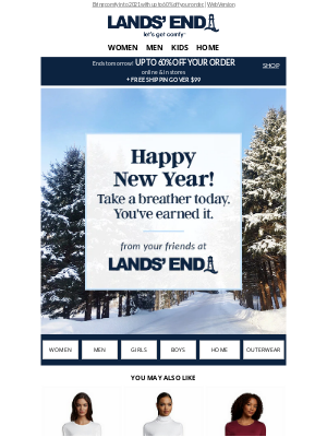 Lands' End - Happy New Year!