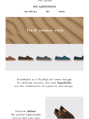 Just in: Our summer Espadrilles are now available