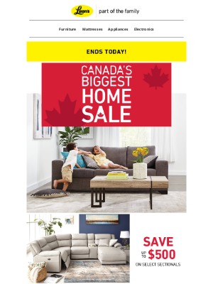 Leon's (CA) - Final Day for Canada's BIGGEST Home Sale 🏡