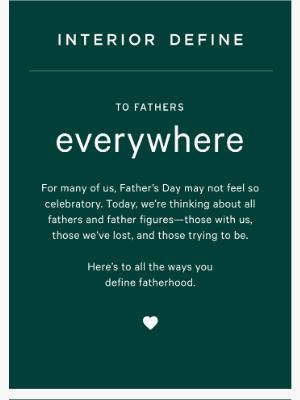 Interior Define - To father
