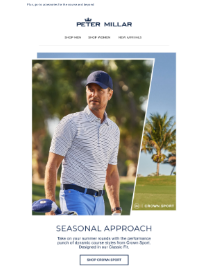Peter Millar - Take On Summer With The Performance Of Crown Sport