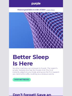 Purple - Free sheets + pillow with select mattress 🛏