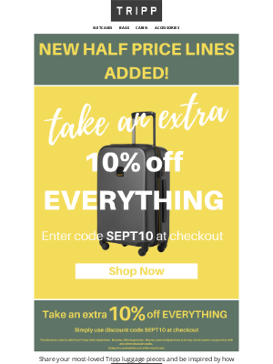 Tripp (UK) - 💣An extra 10% off EVERYTHING. Must End Tomorrow