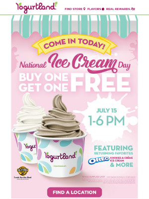 Join us today for National Ice Cream Day!