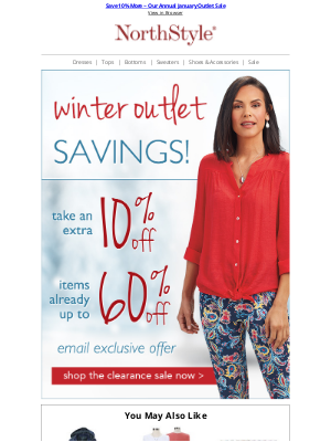 NorthStyle - It's All for YOU ~ Save an Extra 10% in Outlet Now!