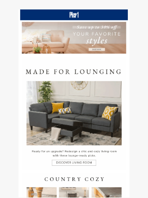 Pier 1 Imports - What's your living room style? 🛋️ + UP TO 30% OFF!