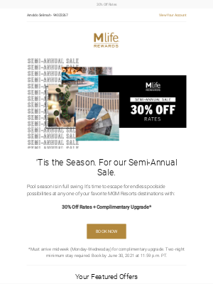 MGM Resorts - Our Semi-Annual Sale is back!