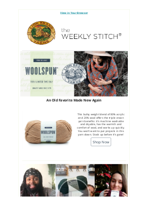 Lion Brand Yarn - Woolspun Is Back For A Limited Time!