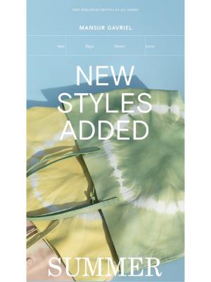 Mansur Gavriel - Just added to Summer Sale: Tie Dye