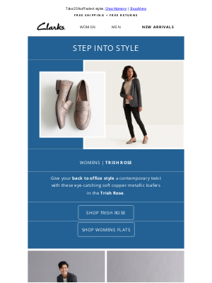 Clarks Shoes - Head back to the office in style