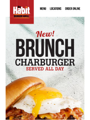 The Habit Burger Grill - The All-New Brunch Charburger!