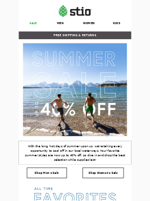 Summer Sale ⛰️☀️⛰️ Now Up To 40% Off!