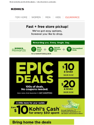 Kohl's - So many EPIC DEALS, so little time ...