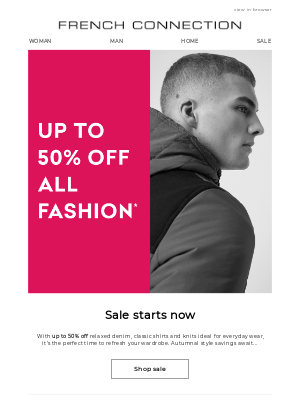 French Connection (UK) - Up to 50% off all fashion* starts now