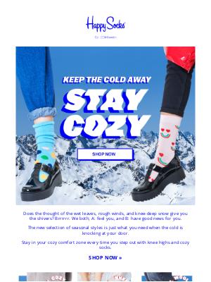Happy Socks - Get cozy-weather ready  ☕️🧶