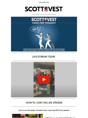 Scottevest - Mouth-Watering Live Stream TODAY