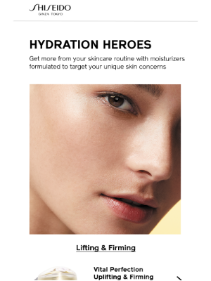 Shiseido - Meet Your Moisturizer Match