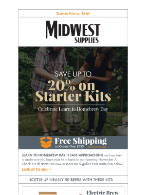 Midwest Supplies - Up to 20% Off Starter Kits