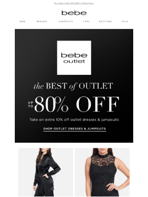 bebe - Shop The Best Of Outlet Up to 80% Off On Dresses and Jumpsuits