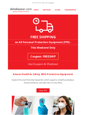 FREE Shipping on All PPE - Weekend Only Offer
