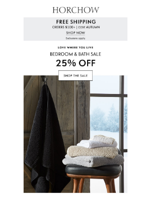 Horchow Mail Order - Bedroom & Bath: 25% off