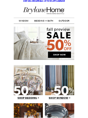 Up To 50% Off NEW Fall Items | Bedding, Window, Décor, More