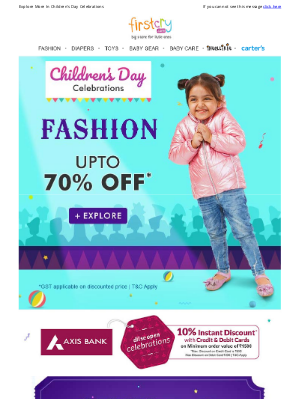FirstCry (India) - Buy 2 @ 50% OFF > Onesies, Ethnic Wear, Frocks & More