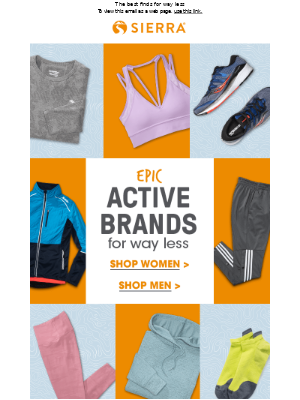 Get active with EPIC brands